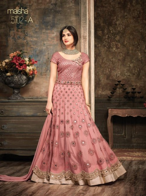 Georgette embroidery anarkali Gown Suit for woman