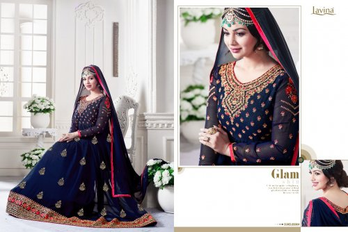 GEORGETTE WITH EMBROIDERY WORK FLOOR LENGTH ANARKALI SALWAR SUIT ayesha 017