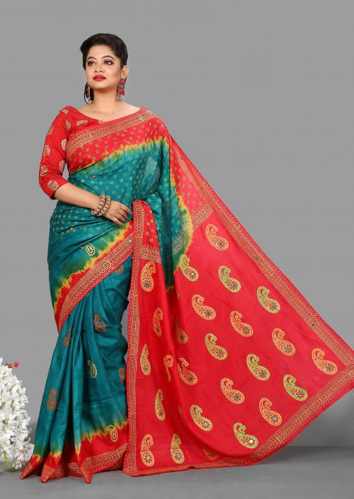 Chinon Batic & Butics Saree for Woman bois-299