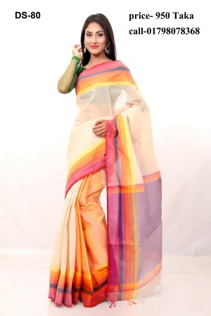 Boishakhi tat cotton Saree Bois-80