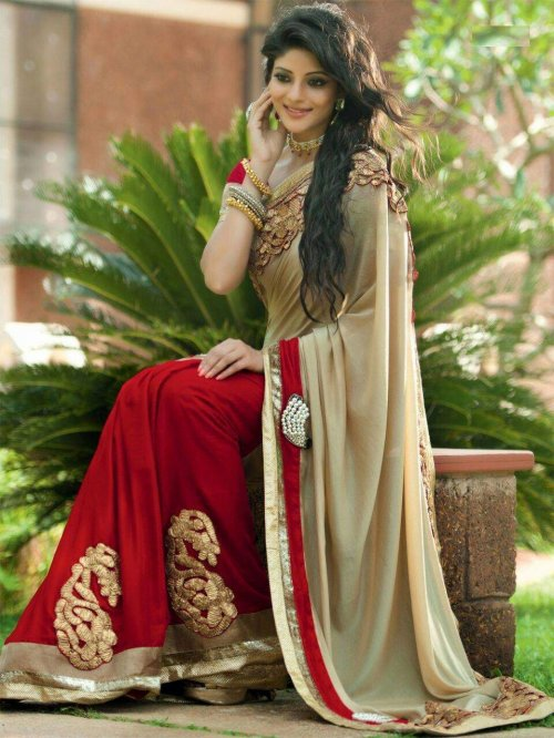 Weight Less Georgette saree Hp-48