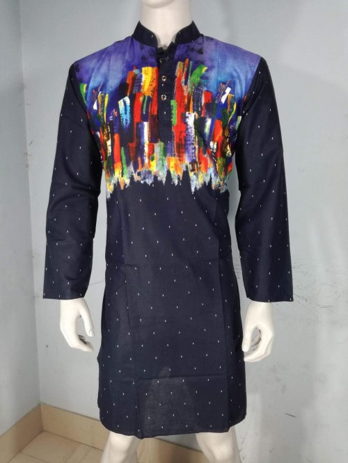Designers stylish Printed Cotton Panjabi-2004