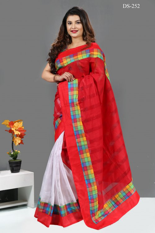 tat cotton Saree bois-252
