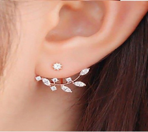 crystal ear ring