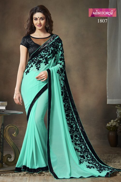Weight Less Georgette saree  SS-369
