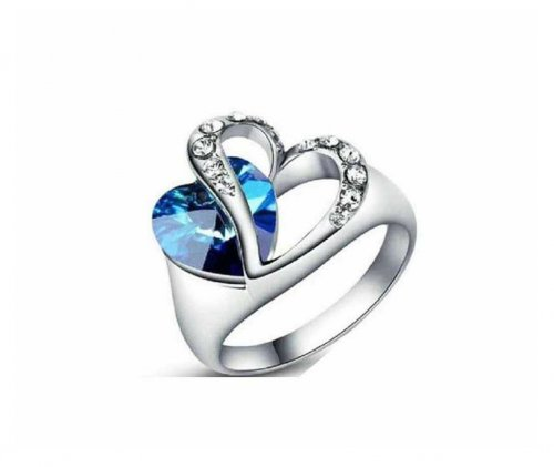 heart shaped finger ring