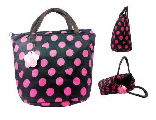 Black and Pink ladies hand bag