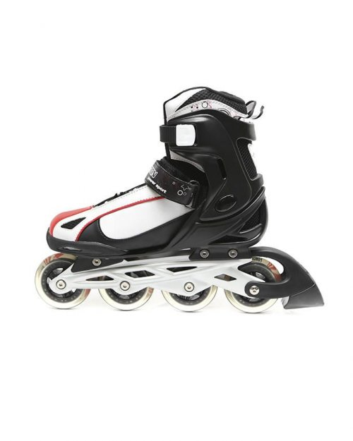 Action Inline Skates White and Red