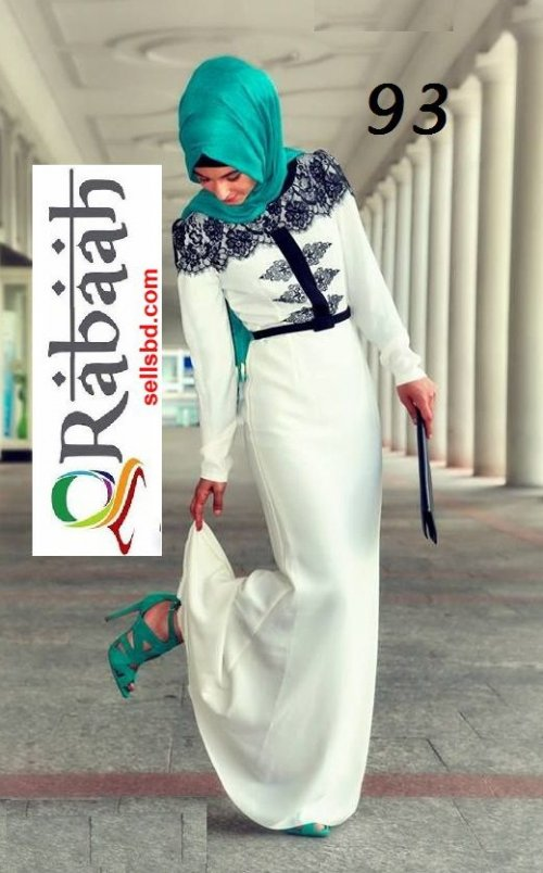 Fashionable muslim dress islamic clothing Rabaah Abaya Burka borka 93
