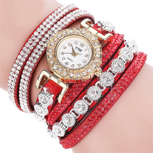 Analog Quartz Women Rhinestone Watch