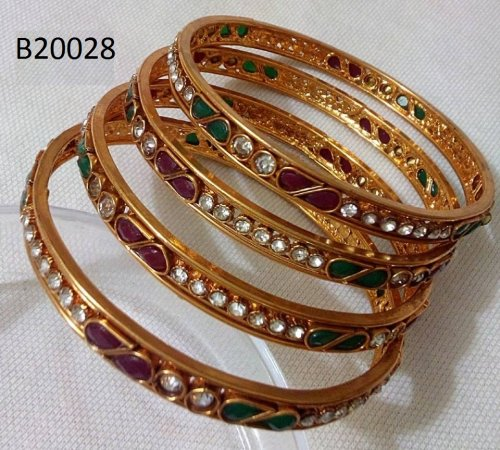 Gold Plated jewelry ornaments Bangles B-20028 (4 pcs)