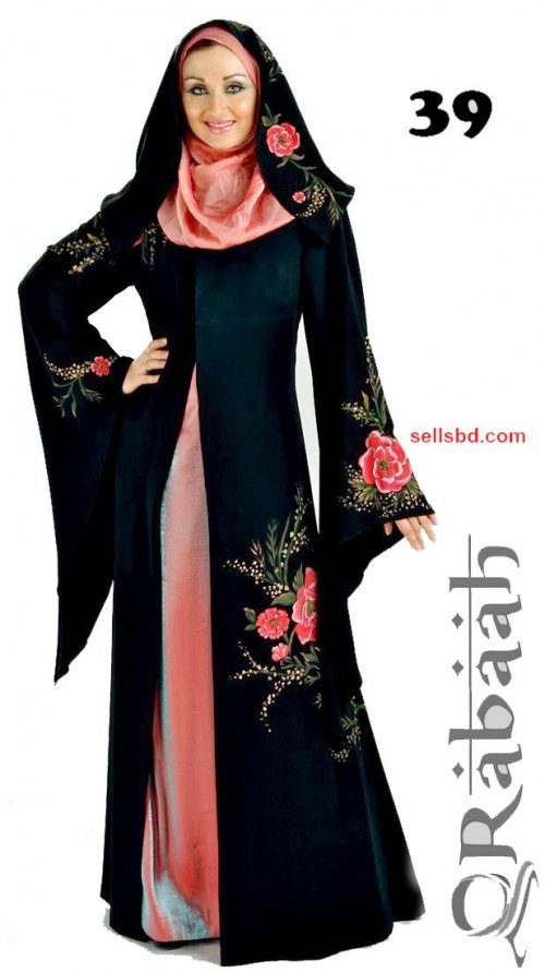 Fashionable muslim dress islamic clothing Rabaah Abaya Burka borka 39