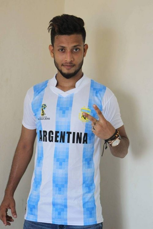 world cup 2018 argentina half sleeve jersey (1) copy