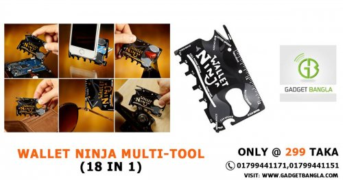 WALLET NINJA MULTI-TOOL (18 IN 1)