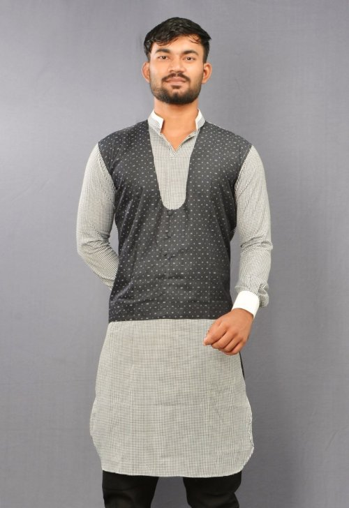 Menz cm long Cotton Punjabi