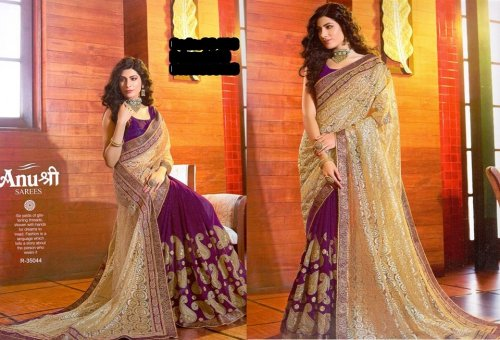 Georgette and embroidery work saree ssc-726