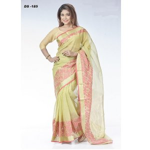 Half silk Jamdani saree DS-185