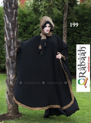 Fashionable muslim dress islamic clothing Rabaah Abaya Burka borka 199