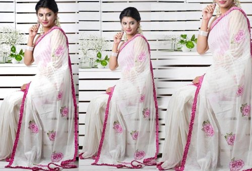 Weight Less Georgette saree SS-363