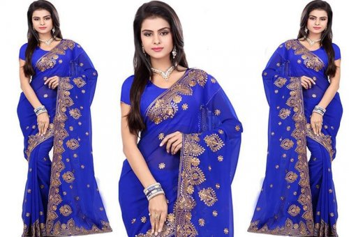 Georgette Saree collection ss368