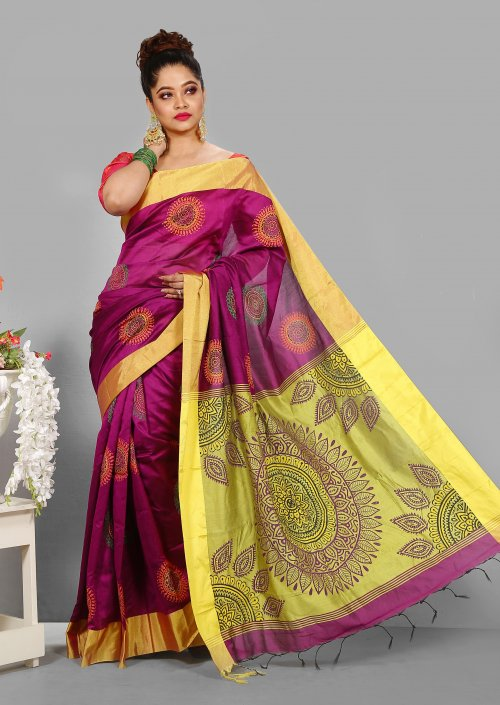 Pontu Silk Butics Saree for Woman bois-303