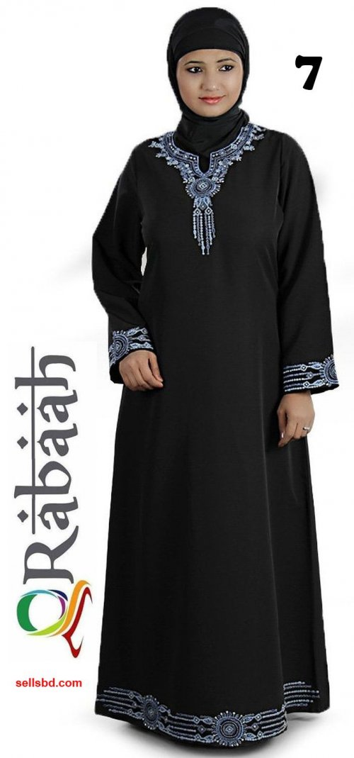 Fashionable muslim dress islamic clothing Rabaah Abaya Burka borka 07