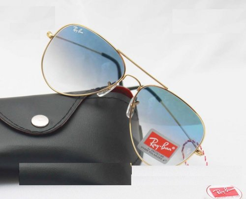 Ray Ban Gents Shades Golden Sunglass Replica SW4049