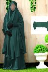 Khimar adjusted niqab with skirt borkha full set for women pv-1