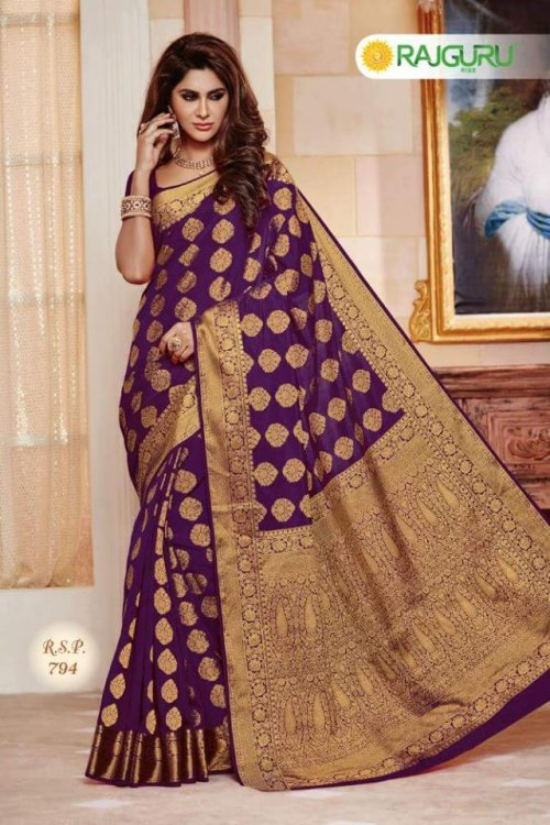 Rajguru multishaped bombay silk saree RSP-794