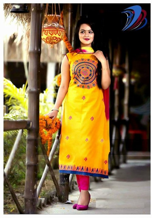 unstitched block printed cotton replica salwar kameez seblock-602