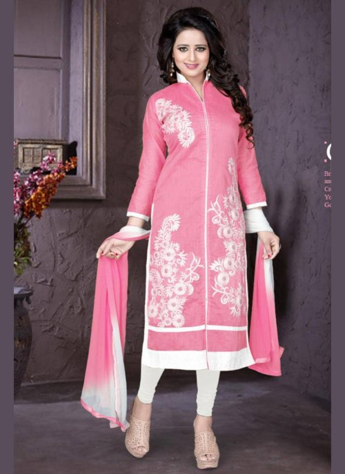 unstiched block printed cotton replica three pcs salwar kameez seblock-416