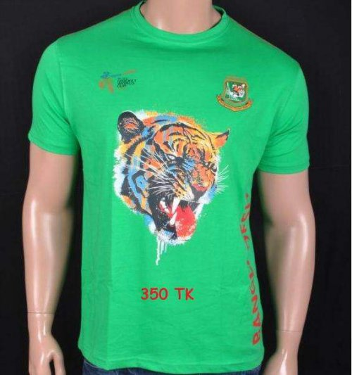 Bangladeshi supporters Green jersey tiger