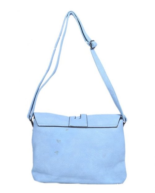 Leather Shoulder Bag - Blue sl 36