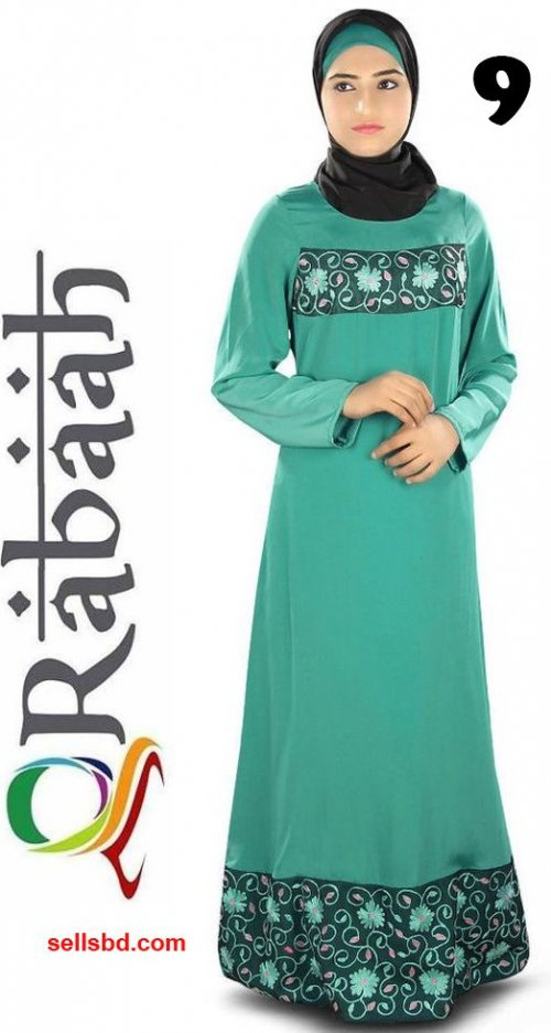 Fashionable muslim dress islamic clothing Rabaah Abaya Burka borka 09