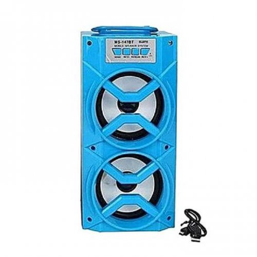 """MS-147BT LED Light Wireless Portable Speaker ( Blue ) """