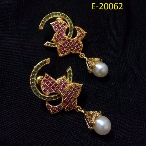 Gold Plated jewelry ornaments Diamond Cut Earrings E-20062