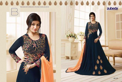 GEORGETTE WITH EMBROIDERY WORK FLOOR LENGTH ANARKALI SALWAR SUIT ayesha 011