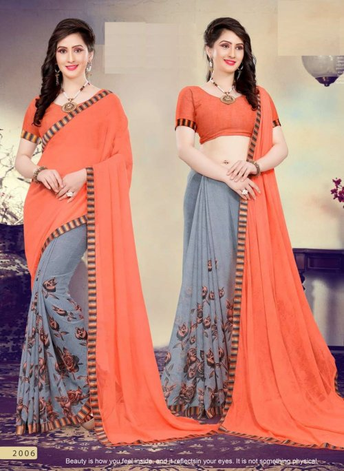 Indian Soft georgette Saree se-172
