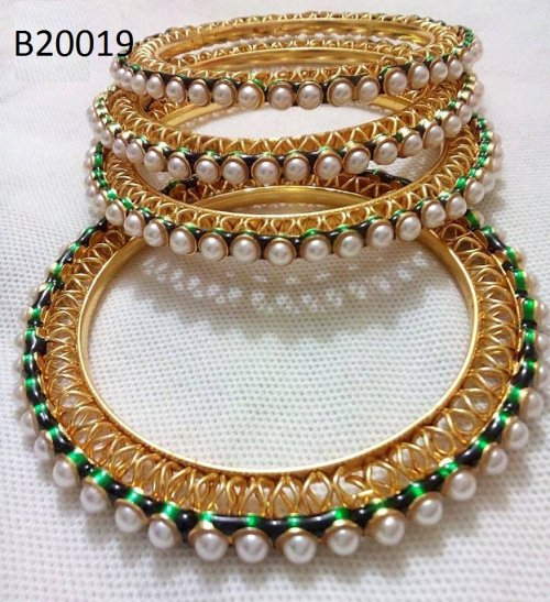 Gold Plated jewelry ornaments Bangles B-20019 (4 pcs)