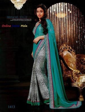 Sumona In Green Saree Code Number: 1413