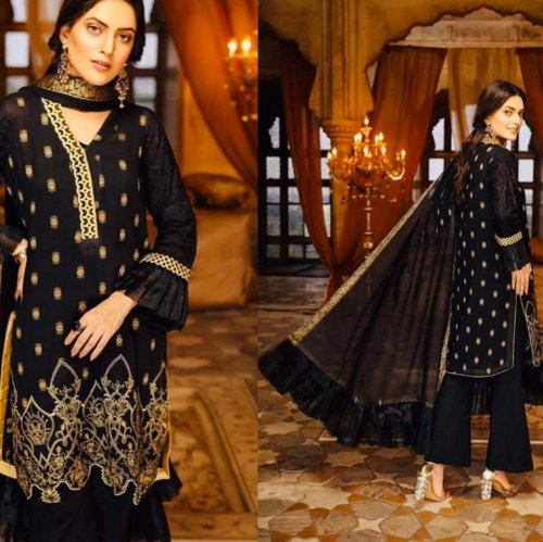 Unstitched Heavy Embroidered Georgette Indian Design Paste Salwar Kameez for Women