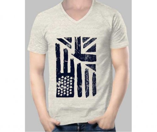 flag gray brand tshirt