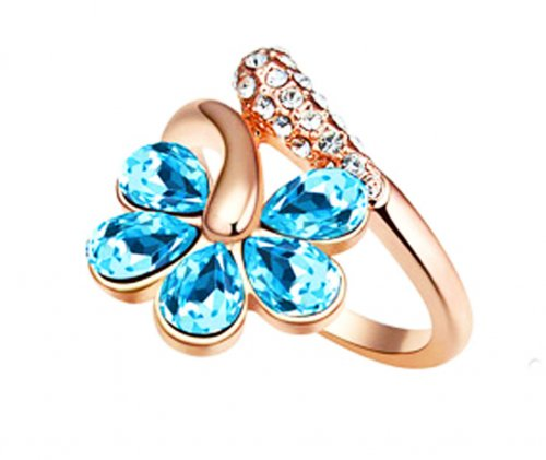 AUSTRALIAN Blue-Flower Finger Ring
