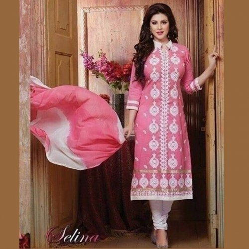 Unstitched Cotton Block Printed Salowar Kameez seblock-341