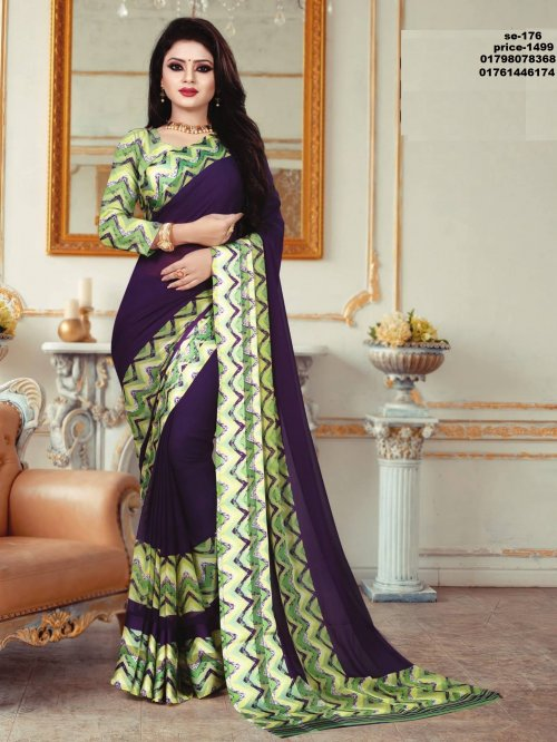 Indian Soft Georgette Saree se-176