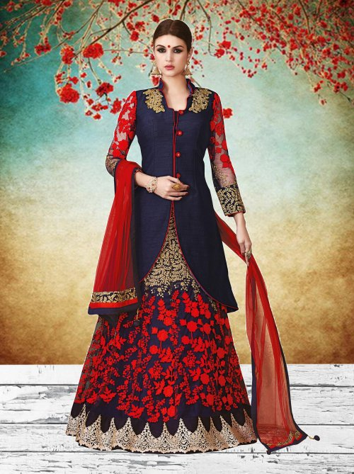 Gorgeious Designer Wedding And party Wear Floor Touch Lehenga