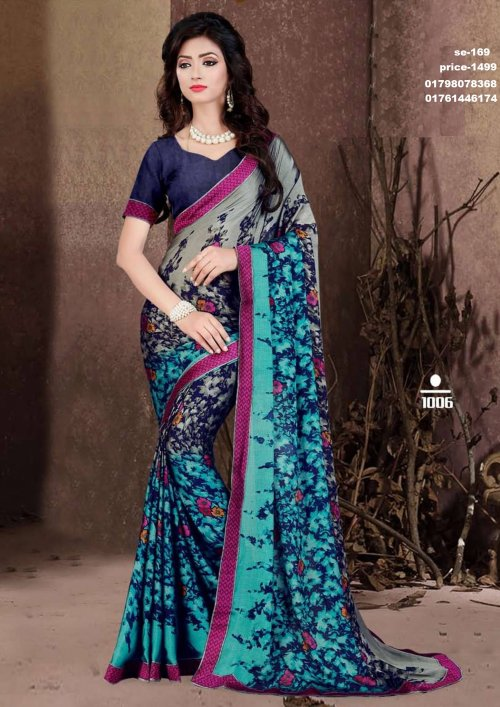 Indian Soft Georgette Saree se-169