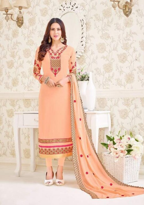 embroidery with georgette salwar kameez