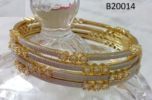 Gold Plated jewelry ornaments Bangles B-20014(4 pcs)