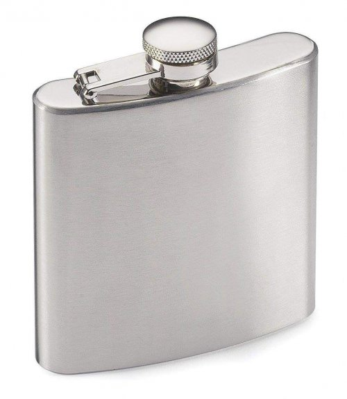 Fm Andrew James Designer 8oz Hip Flask With Funnel
